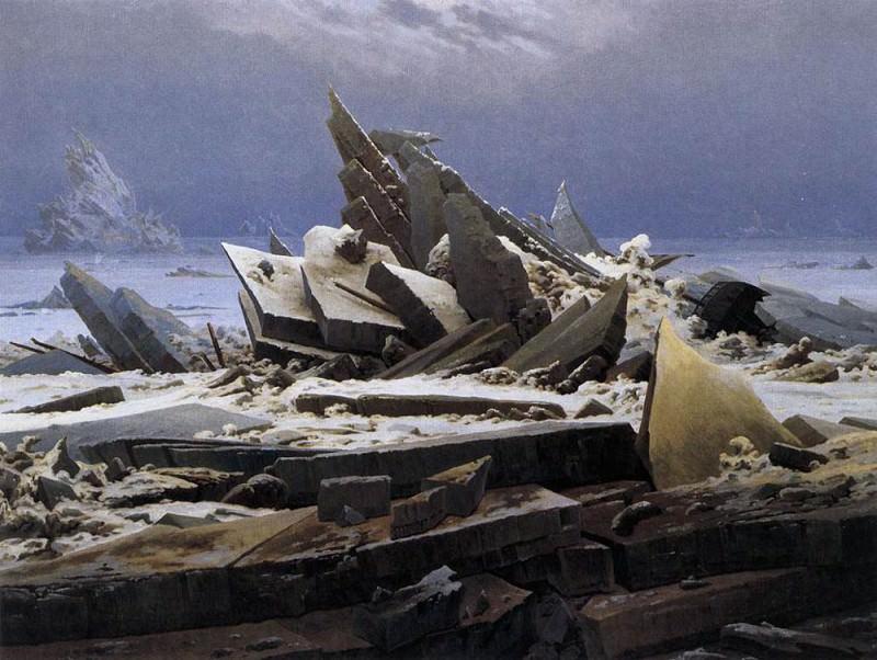 The Sea Of Ice. Caspar David Friedrich