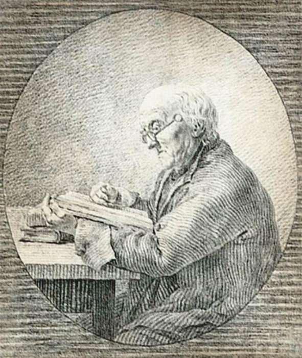 Adolf Gottlieb Friedrich Reading. Caspar David Friedrich