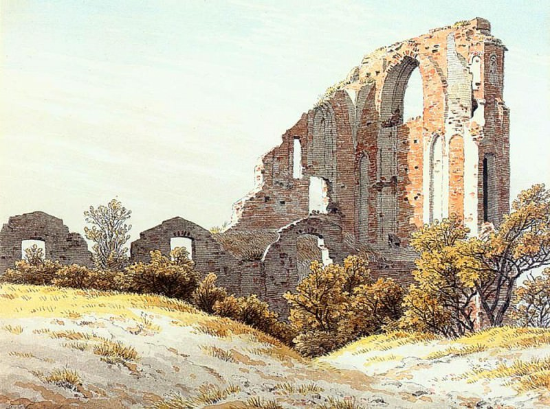 The Ruins Of Eldena. Caspar David Friedrich
