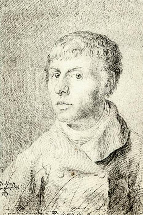 Self Portrait 1800. Caspar David Friedrich