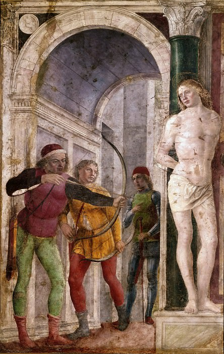 The Martyrdom of St. Sebastian. Vincenzo Foppa