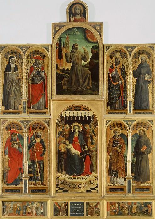 Altarpiece of S. Maria delle Grazie, Bergamo. Vincenzo Foppa