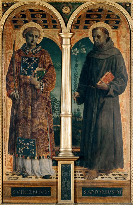 Altarpiece of S. Maria delle Grazie, Bergamo - Sts Vincent and Anthony. Vincenzo Foppa