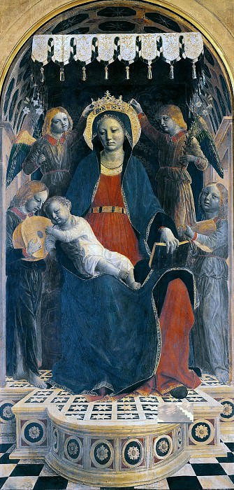 Altarpiece of S. Maria delle Grazie, Bergamo - Madonna and Child. Vincenzo Foppa