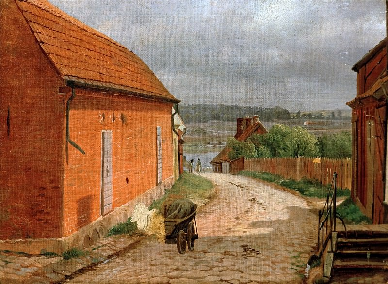 Village Street. Ludwig Heinrich Theodor Gurlitt