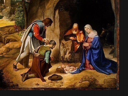 THE ADORATION OF THE SHEPHERDS, DETALJ 4. Giorgione (Giorgio Barbarelli)