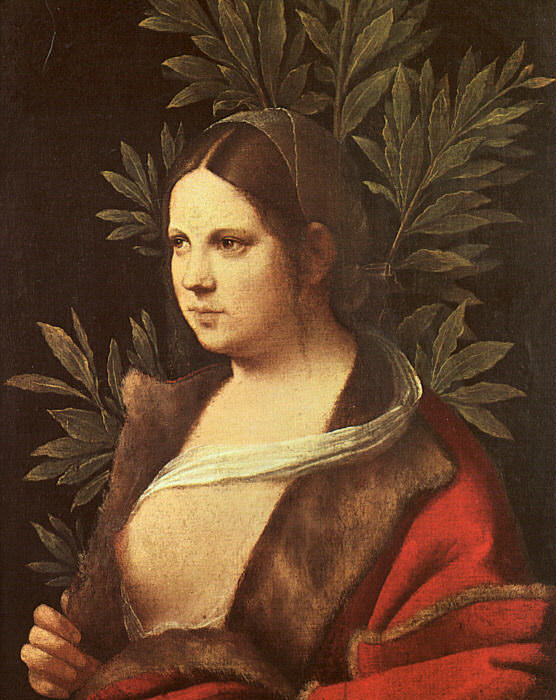 LAURA, 1506, ART HISTORY MUSEUM, VIENNA.. Giorgione (Giorgio Barbarelli)