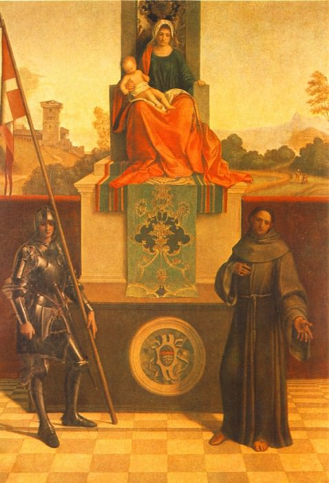 MADONNA ENTHRONED WITH THE CHILD BETWEEN ST. FRANC. Giorgione (Giorgio Barbarelli)