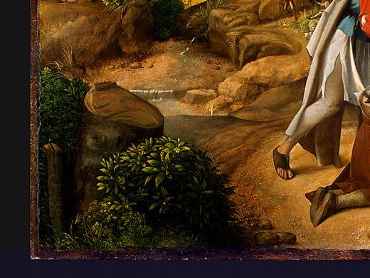 THE ADORATION OF THE SHEPHERDS, DETALJ 3. Giorgione (Giorgio Barbarelli)