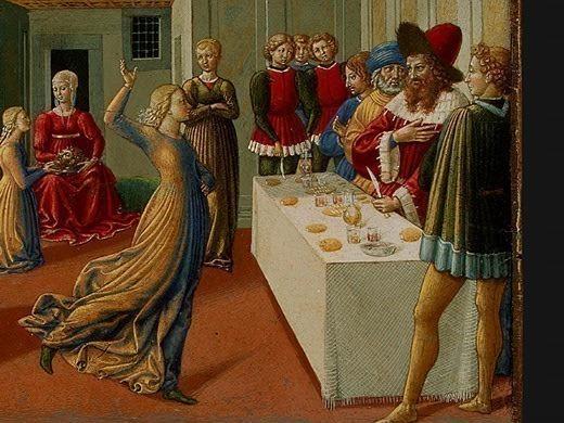 The Dance of Salome, 1461-62, 23.8x34.3 cm, Detalj. Benozzo Gozzoli