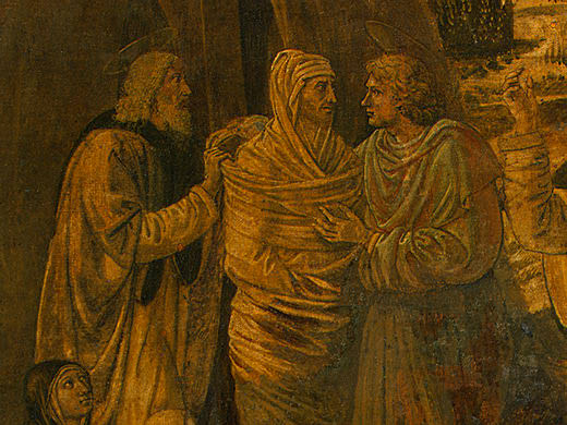 The Raising of Lazarus, probably 1497, 65.5x80.5 c. Benozzo Gozzoli