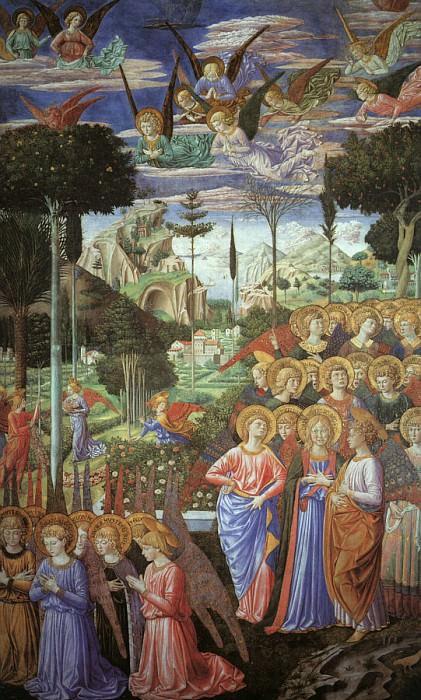 1459 Angels Worshipping. Benozzo Gozzoli