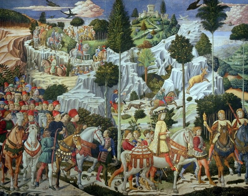 Journey of the Magi. Benozzo Gozzoli