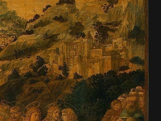 Воскрешение Лазаря, вероятно, 1497, фрагмент. Беноццо Гоццоли