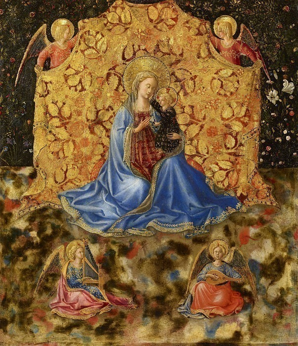 Мадонна с младенцем и ангелами (Madonna dell Umilta). Беноццо Гоццоли