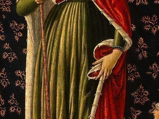 Saint Ursula with Angels and Donor, 1455, 47x28.6. Benozzo Gozzoli