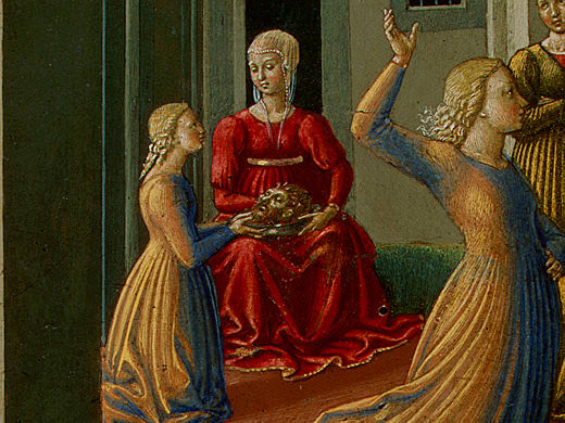 The Dance of Salome, 1461-62, 23.8x34.3 cm, Detalj. Benozzo Gozzoli