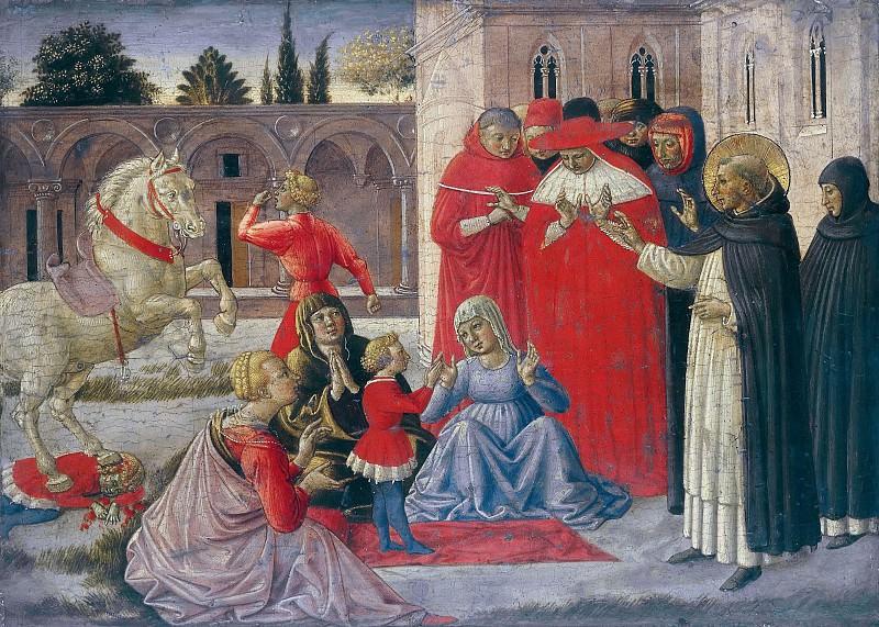 St. Dominic resurrects Napoleone Orsini. Benozzo Gozzoli