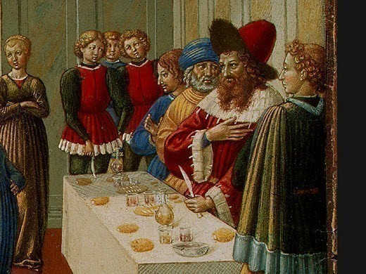 Танец Саломеи, 1461-62, фрагмент. Беноццо Гоццоли