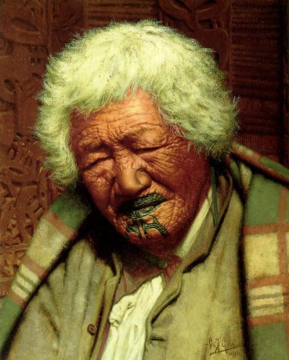 Kapi Kapi aged 102 1910 26.7x20.3cm. Charles Frederick Goldie