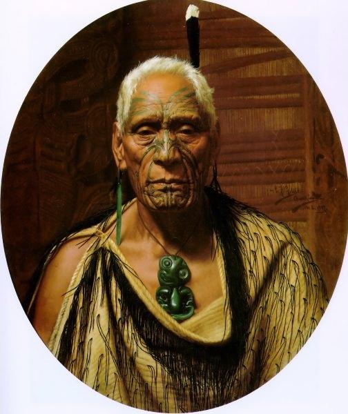 Te Hau-Takiri Wharepapa 1907 76x63.5cm. Charles Frederick Goldie