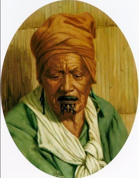 Te Aotiti Tumai 1912 34.8x25cm. Charles Frederick Goldie