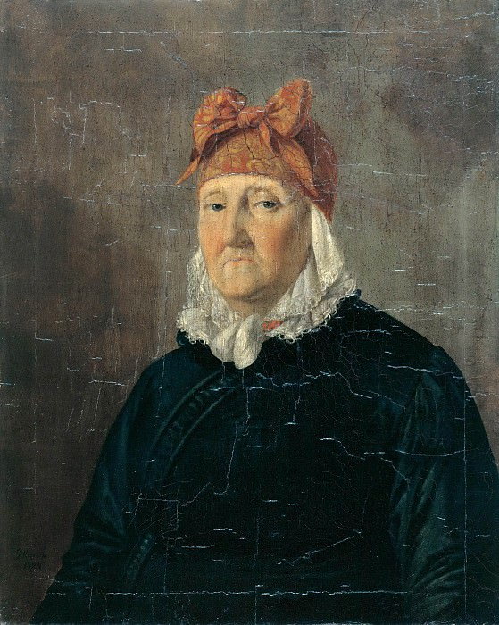 Portrait of an old woman. Joseph Edward von Gillern