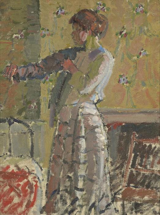 Girl dressing. Harold Gilman