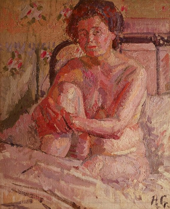 Nude on a Bed. Harold Gilman