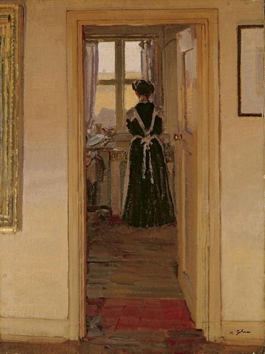 The Kitchen. Harold Gilman