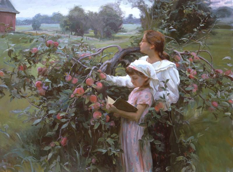 In the Orchard 36 x 48. Daniel F Gerhatz