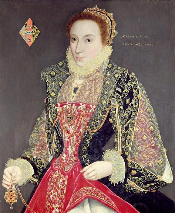 Мэри Дентон, урождённая Мартен, в возрасте 15 лет в 1573 году. Джордж Гауэр