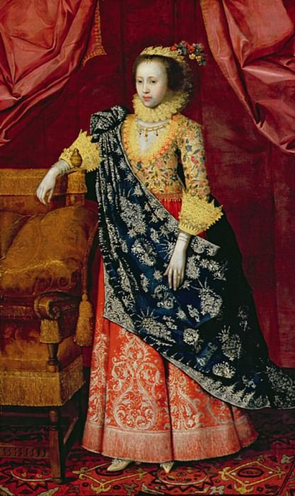 Portrait of a Lady here called Arabella Stuart. Marcus Gheeraerts (The Younger)