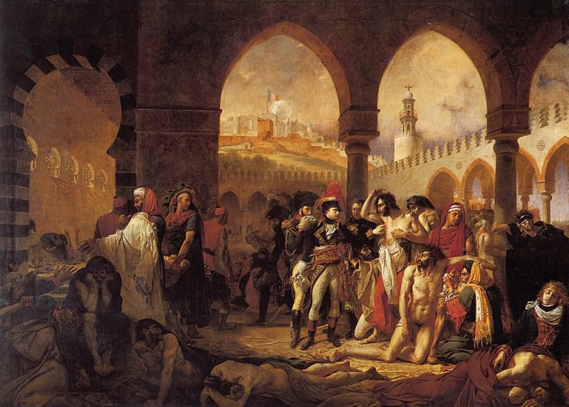 A J Gros Bonaparte Visiting the Pesthouse in Jaffa. Antoine-Jean Gros