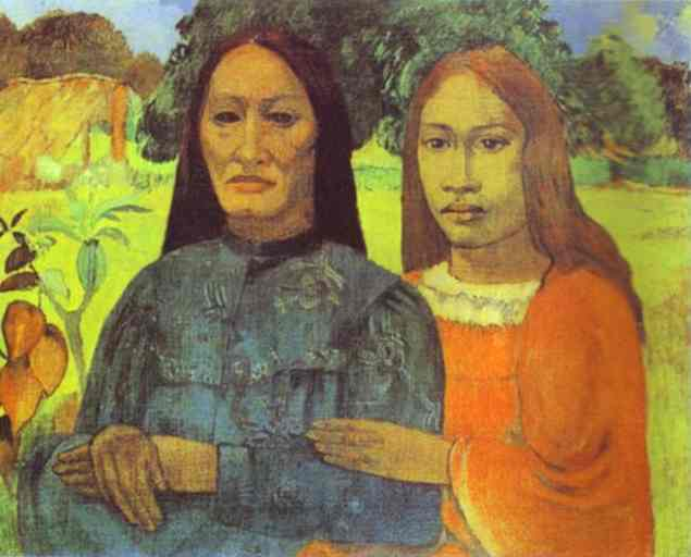 Mother And Daughter. Paul Gauguin
