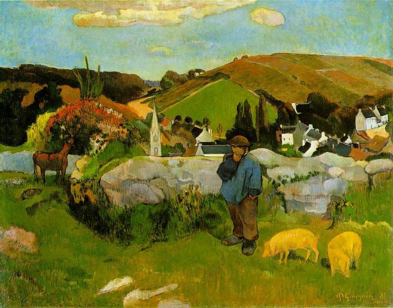 Свинопас, Бретань, 1888. Поль Гоген