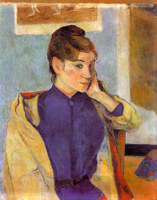 Portrait of Madeline Bernard (The sister of the arti. Paul Gauguin