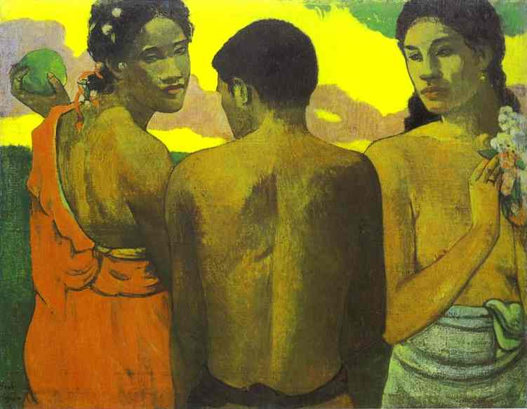 Three Tahitians. Paul Gauguin