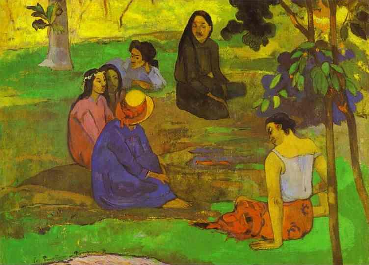 Les Parau Parau (Conversation). Paul Gauguin