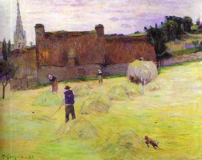 Hay-Making In Brittany. Paul Gauguin