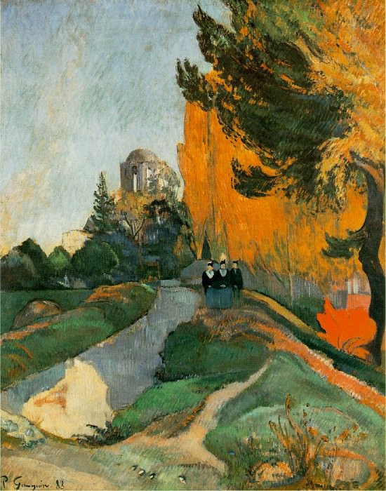 Les Alyscamps, Arles, 1888, 91x72 cm, Musee dOrasy,. Paul Gauguin