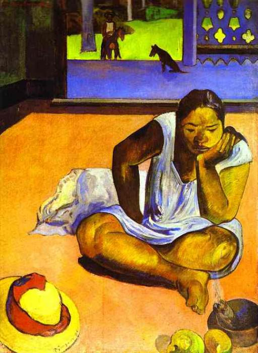 Te Faaturuma (Brooding Woman). Paul Gauguin