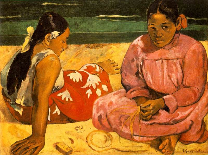 Femmes de Tahiti (Sur la plage) (Tahitian Women On the Beach) 1891. Paul Gauguin