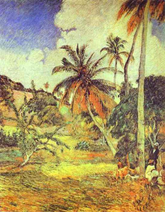 Palm Trees On Martinique. Paul Gauguin