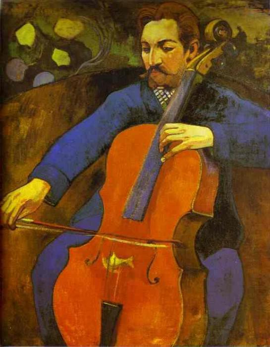 The Cellist (Portrait Of Upaupa Scheklud). Paul Gauguin