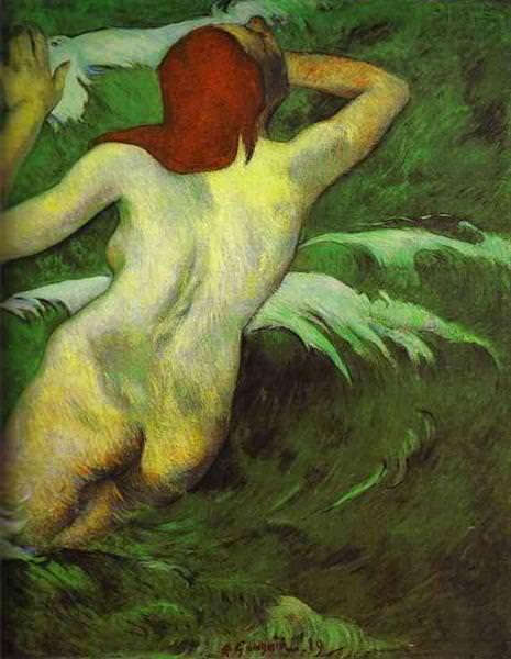 Woman in the Waves (Ondine). Paul Gauguin