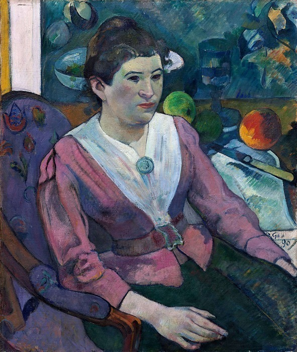 Портрет Мари Дерьен, 1890. Поль Гоген