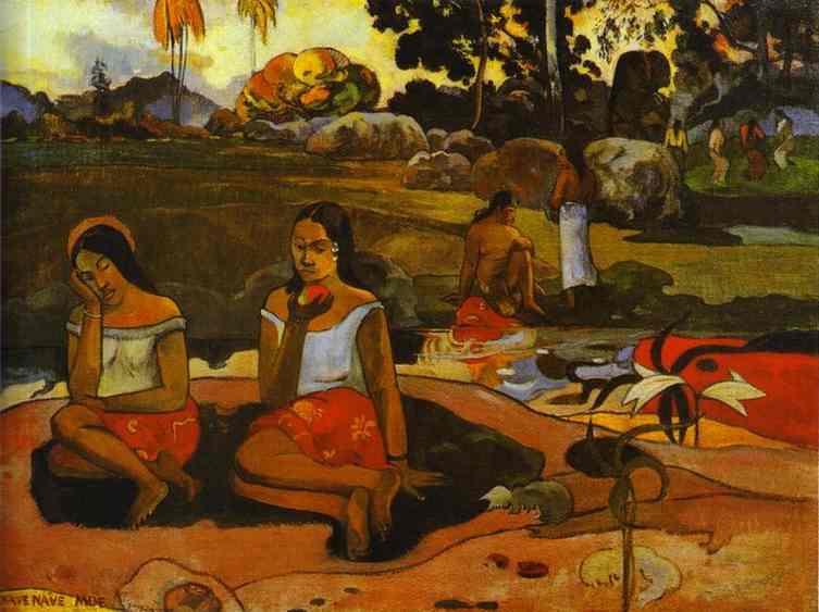 Nave Nave Moe (Sacred Spring). Paul Gauguin