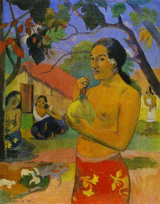 Eu Haere Ia Oe (Woman Holding A Fruit). Paul Gauguin