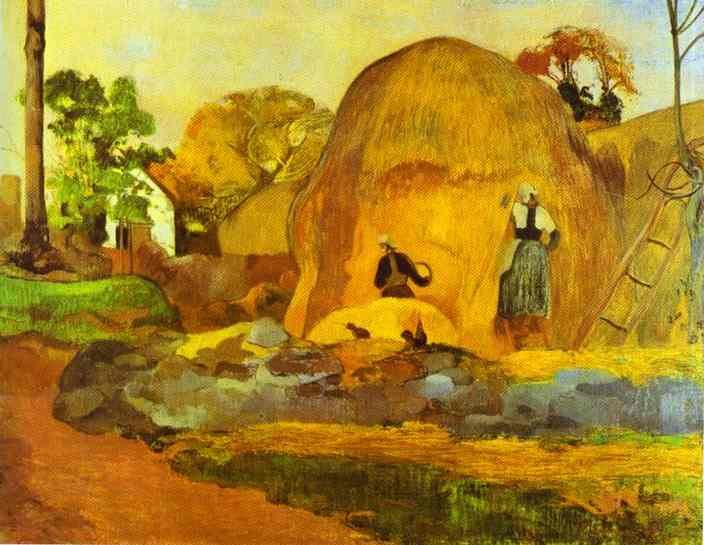 Yellow Hay Ricks (Fair Harvest). Paul Gauguin